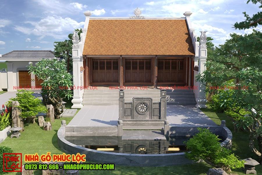 Cận cảnh ngôi nhà gỗ 3 gian cổ truyền