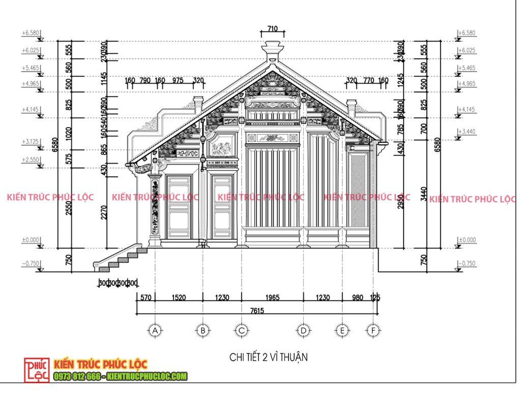 Chi tiết 2 vì thuận nhà gỗ