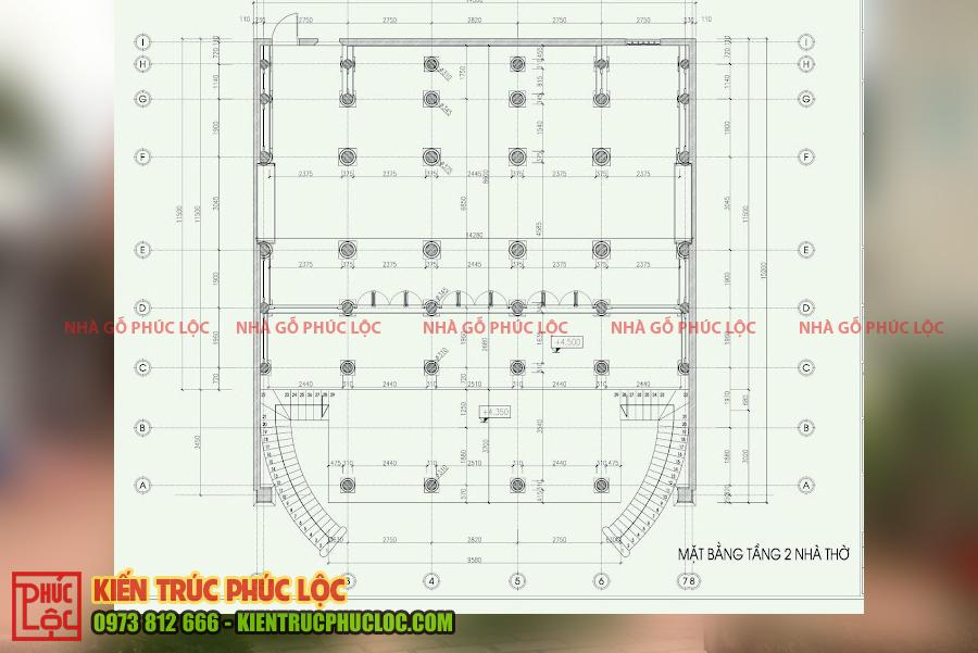 Bản vẽ 2D nhà gỗ 5 gian 40 cột