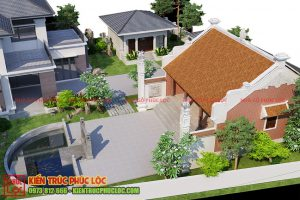 Thiết kế nhà gỗ 3 gian trong biệt thự nhà gỗ sân vườn